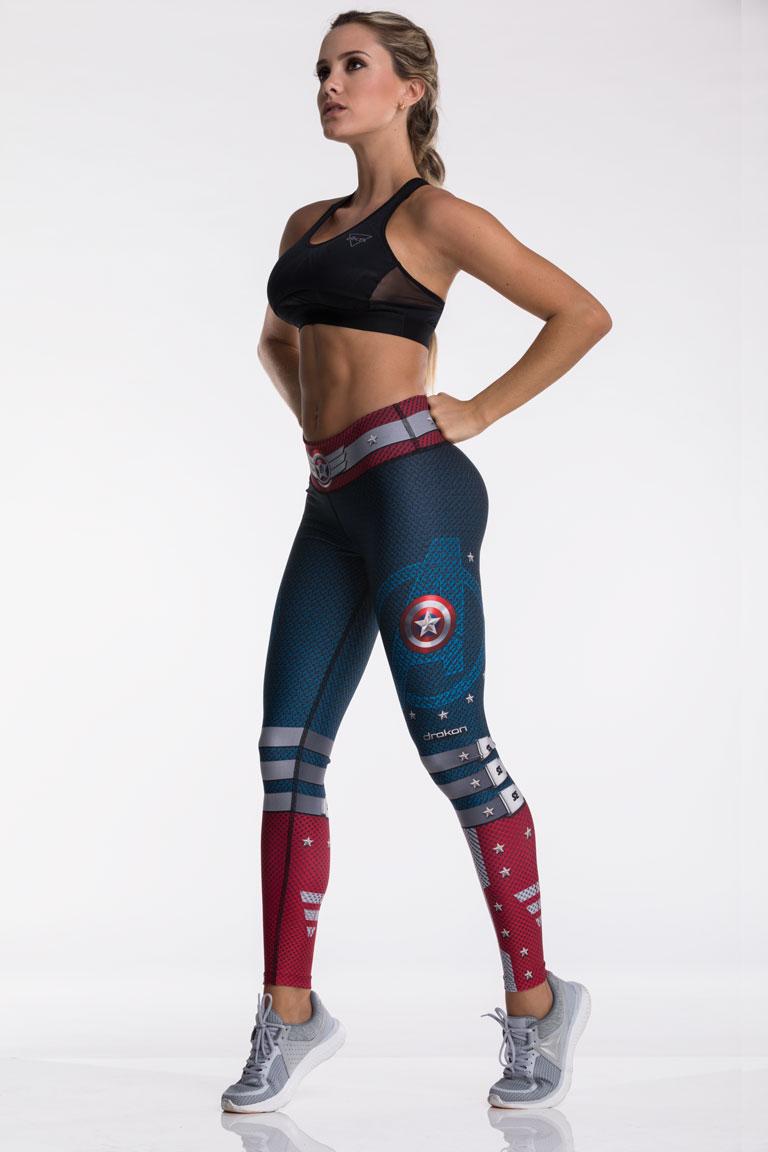 73c8fed63c99 Leggings capitán américa | DRAKON® | Ropa deportiva mujer colombiana
